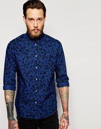 Рубашка узкого кроя с длинными рукавами и принтом Paul Smith Jeans