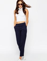 Зауженные брюки с классической талией ASOS - Темно-синий