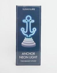 Неоновый мини-светильник в виде якоря Sunnylife - Мульти