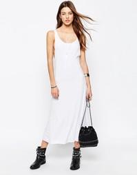 Платье макси в рубчик ASOS City - Белый
