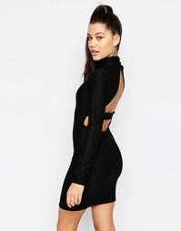 Облегающее платье с вырезом на спине Missguided - Черный