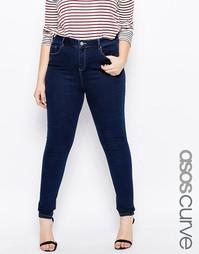 Облегающие джинсы ASOS CURVE Ridley - Indigo - индиго