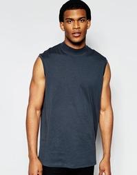 Oversize-футболка без рукавов с воротником-стойкой ASOS