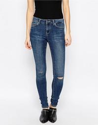 Эластичные джинсы скинни Noisy May Lucy - Умеренный синий