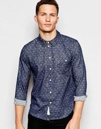 Рубашка в горошек с длинными рукавами Native Youth - Синий