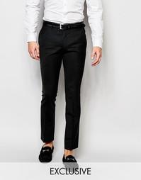 Шерстяные супероблегающие брюки скинни Heart & Dagger - Черный