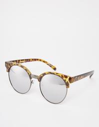 Круглые солнцезащитные очки в полуоправе Quay