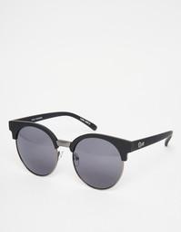 Круглые солнцезащитные очки в полуоправе Quay - Черный