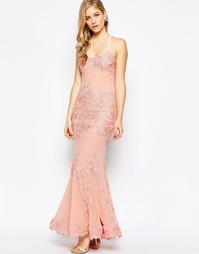 Кружевное платье макси Forever Unique Porsia - Телесный