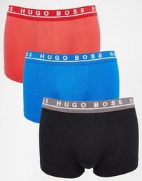 3 пары боксеров-брифов Hugo Boss - Мульти