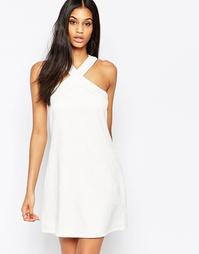Цельнокройное платье с V-образной горловиной и вырезами Paper Dolls