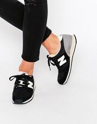 Черные замшевые кроссовки New Balance 420 - Черный