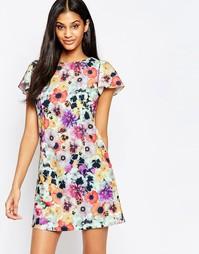 Цельнокройное платье с цветочным принтом Paper Dolls - Цветочный