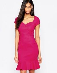 Платье миди с короткими рукавами Paper Dolls - Розовый