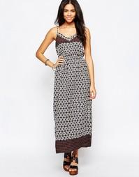 Платье макси с v-образным вырезом и принтом Brave Soul