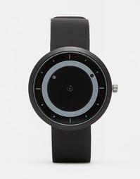 Часы с матовым черным ремешком и подвижными дисками Dark Future