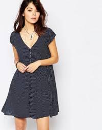 Свободное платье в горошек Brave Soul - Темно-синий