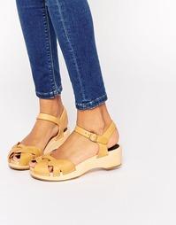 Коричневые кожаные сандалии Swedish Hasbeens Tutti Frutti