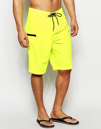 Неоново-желтые шорты для плавания ASOS Boardie - Желтый