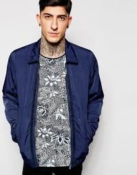 Темно-синяя хлопковая куртка-пилот Scotch & Soda - Темно-синий