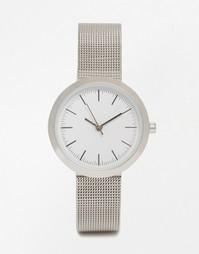 Часы с минималистическим циферблатом и сетчатым ремешком ASOS