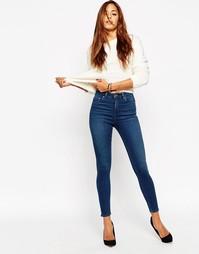 Укороченные джинсы скинни ASOS RIDLEY - Выбеленный