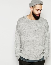 Cерый меланжевый джемпер-oversize из хлопка ASOS - Light grey slub