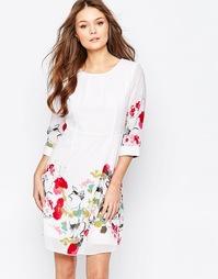 Приталенное платье с цветочным принтом Yumi - Белый