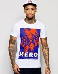 Футболка с принтом Hero's Heroine - Темно-синий