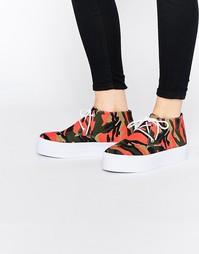 Ботинки-кроссовки на платформе ASOS DRAKE - Камуфляжный