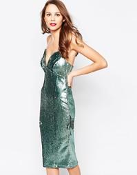 Платье миди с пайетками Daisy Street - Сине-зеленый