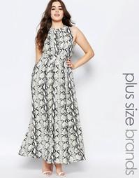 Платье макси с животным принтом Lovedrobe Plus - Принт