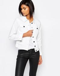 Белая джинсовая куртка Vila - Белый