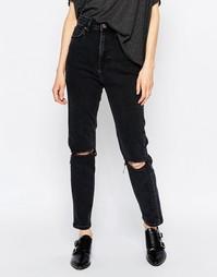 Узкие джинсы с высокой талией Dr Denim Cropa Cabana - Черный