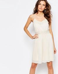 Платье с кружевной вставкой Vila Pretty - Розовый оттенок