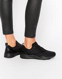 Черные кроссовки-слипоны Reebok Furylite