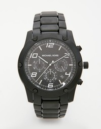 Черные часы с хронографом из нержавеющей стали Michael Kors Caine MK84