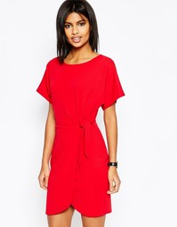 Платье-футляр мини с узлом ASOS - Красный