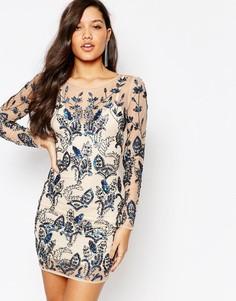 Облегающее платье мини с цветочным дизайном и отделкой Missguided Prem