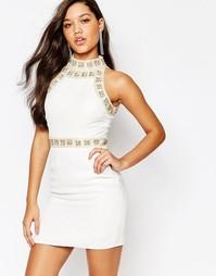 Облегающее премиум‑платье мини с отделкой жемчугом Missguided