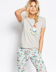 Пижамная футболка Cath Kidston Garden Gnome - Серый