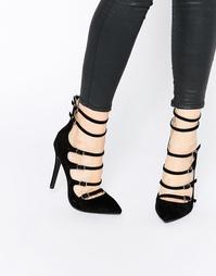 Туфли-лодочки на каблуке с пряжками Public Desire Nessy - Черный