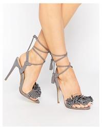 Серые сандалии на каблуке Public Desire Tara - Серый