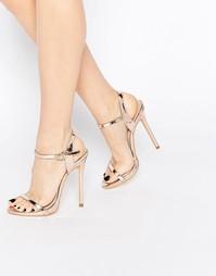 Легкие золотистые сандалии на каблуке Public Desire Sparra - Золотой