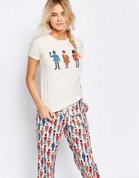 Пижамная футболка Cath Kidston Guards - Кремовый