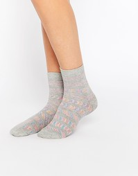 Носки в полоску с блестками ASOS - Серый