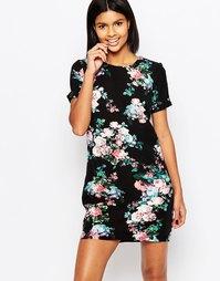 Платье-туника с цветочным принтом Poppy Lux Zaria - Темно-синий