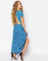 Голубое платье с платочным принтом Jen's Pirate Booty