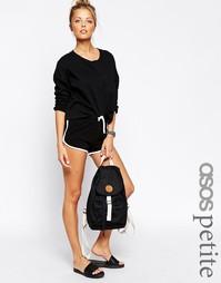 Базовые хлопковые шорты с контрастным кантом ASOS PETITE - Черный