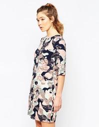Платье с камуфляжным принтом Sugarhill Boutique Amelia - Мульти